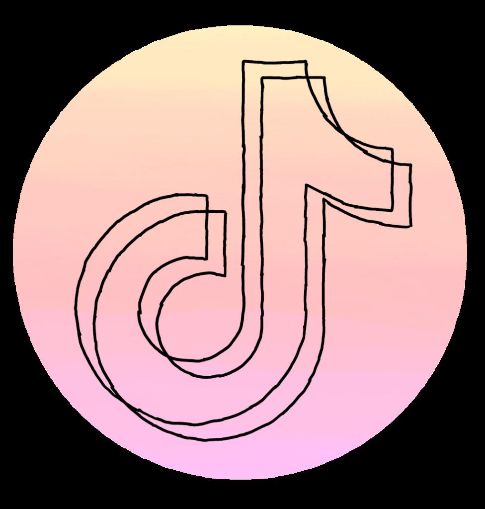 Tiktok App Pink Tiktok Logo  hot tiktok 2020