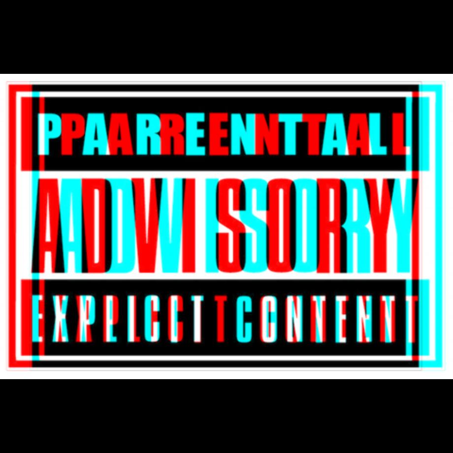 Download High Quality parental advisory transparent red