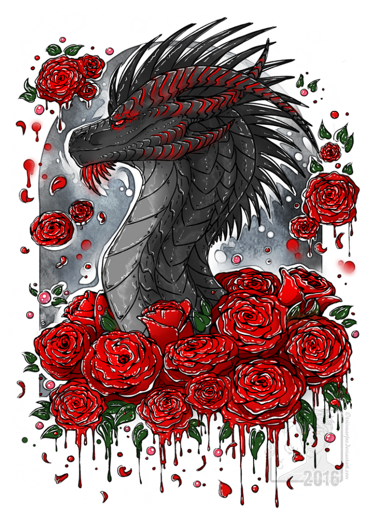 Red Roses Black Heart by Trinanigans on DeviantArt