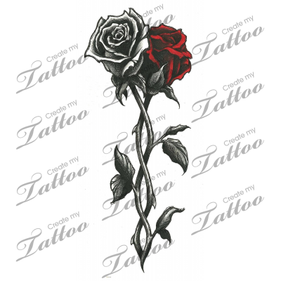 Marketplace Tattoo Intertwined Roses 12019  Rose vine