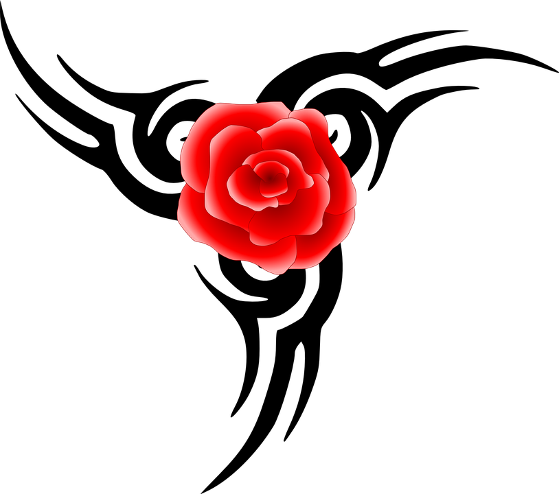 Red Rose Flower  Free vector graphic on Pixabay