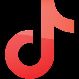 Web 2 red tiktok icon  Free web 2 red social icons  Web