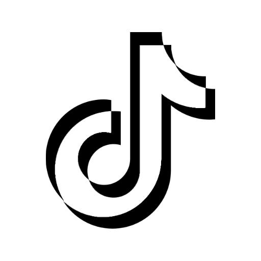 Tiktok Logo Black And White Circle - Red Tik Tok Logo