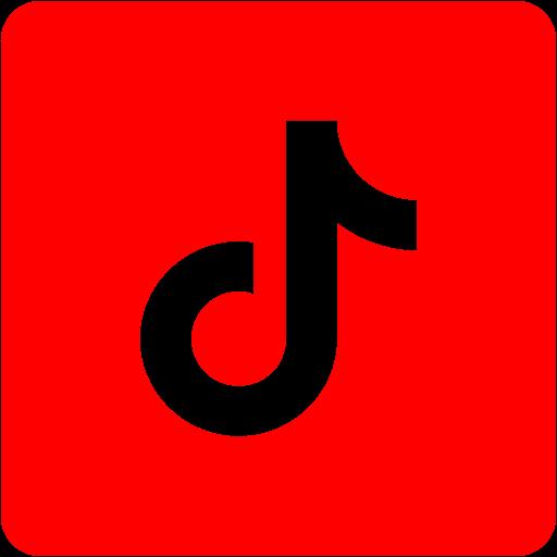 Red tiktok 2 icon  Free red social icons