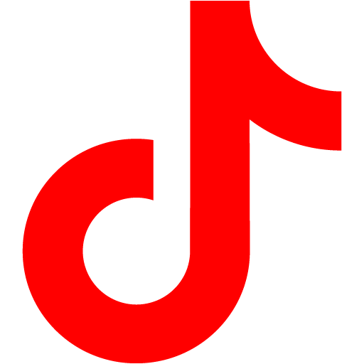 Red tiktok icon  Free red social icons