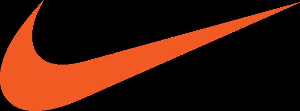 nike orange swoosh logo