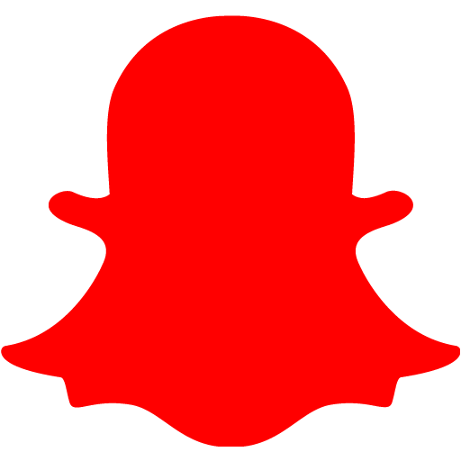 Red snapchat 2 icon  Free red social icons