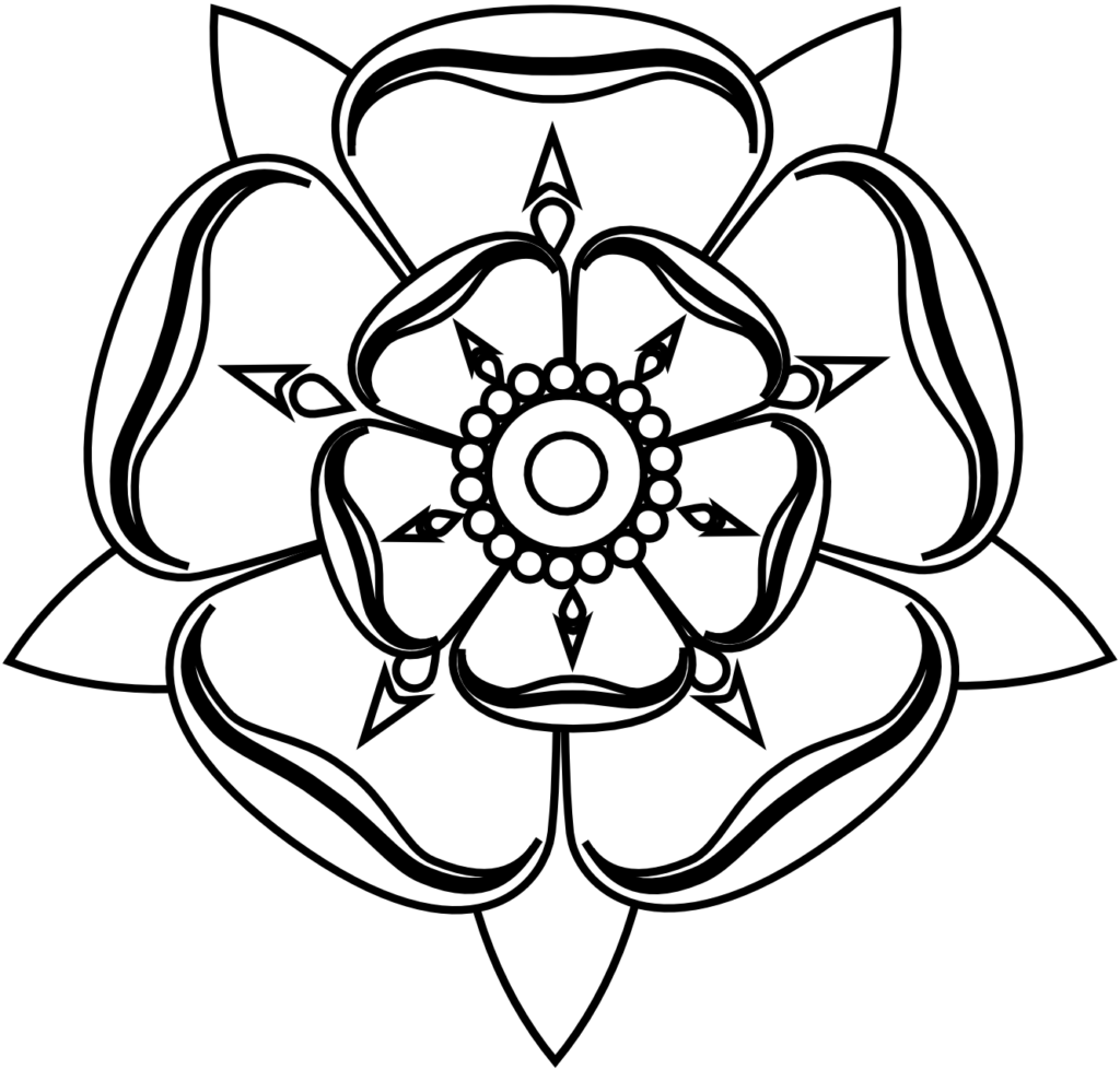 yorkshire white rose outline  Clip Art Library