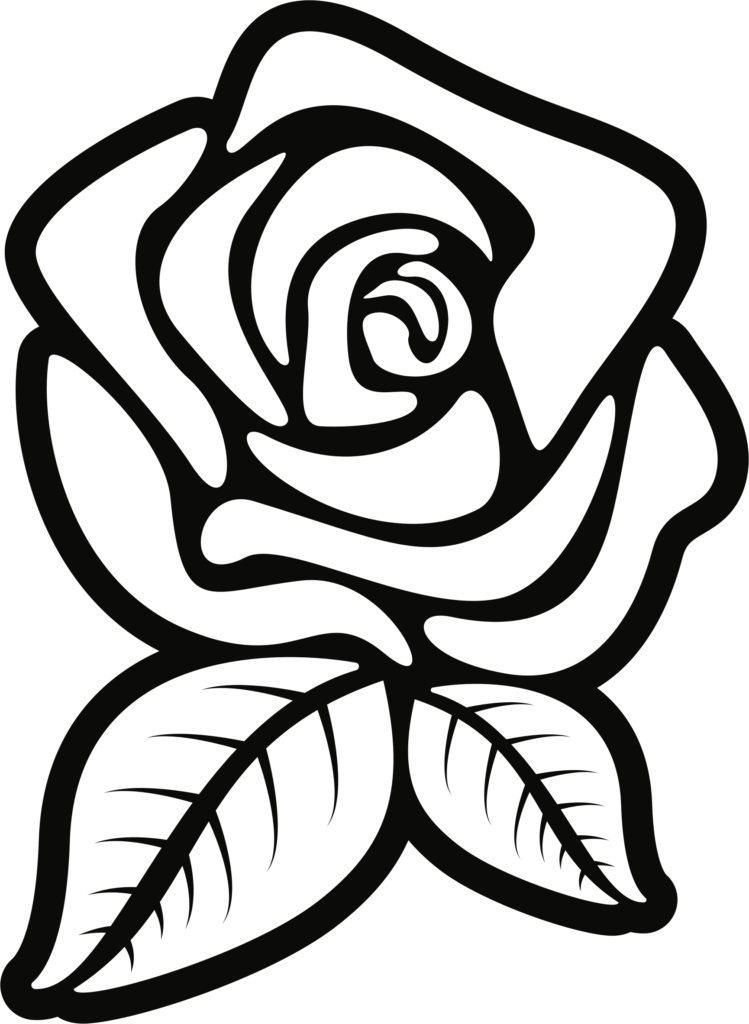 flower outline png  Rose Clipart Outline Great Free