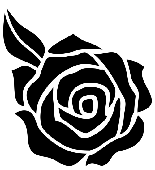 Black and White Rose Silhouette  Plan to needle felt this