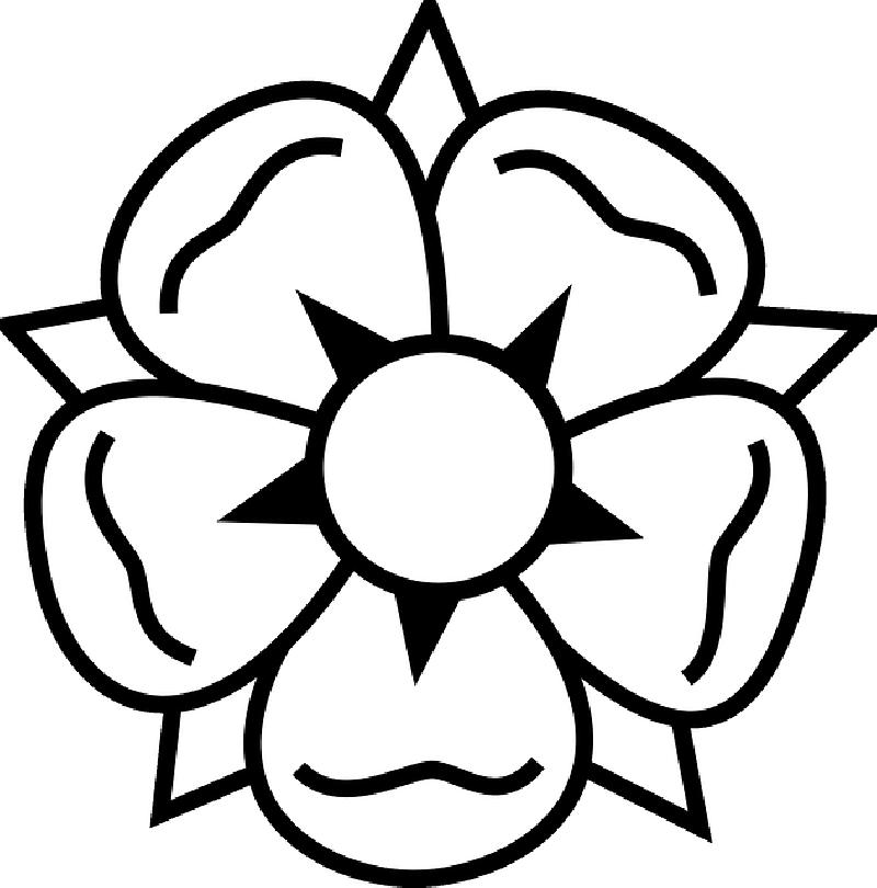 Single Rose Outline  ClipArt Best