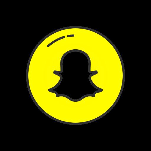Snapchat, circle Icon Free of Popular Social Media - Colored - Snapchat Chat Icon