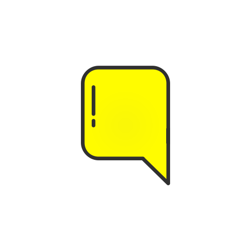 Chat, inbox, message, snapchat icon - Snapchat Chat Icon