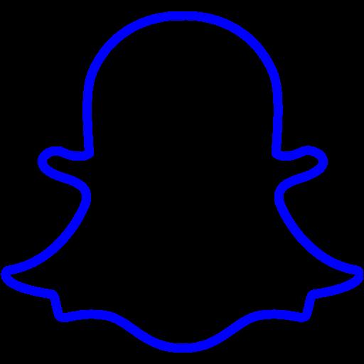 Blue snapchat 3 icon  Free blue social icons