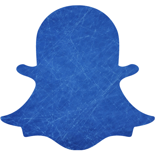 Blue and scratched snapchat 2 icon  Free blue and