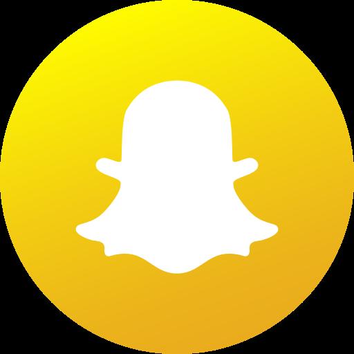 Circle colored gradient media snapchat social social