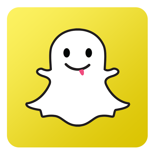 Snapchat Icon - Flat Gradient Social Icons - SoftIcons.com - Snapchat Logo Blue Gradient