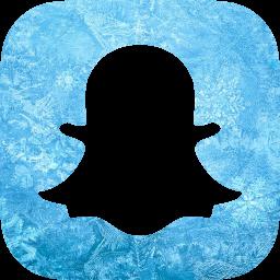 Ice snapchat icon  Free ice social icons  Ice icon set