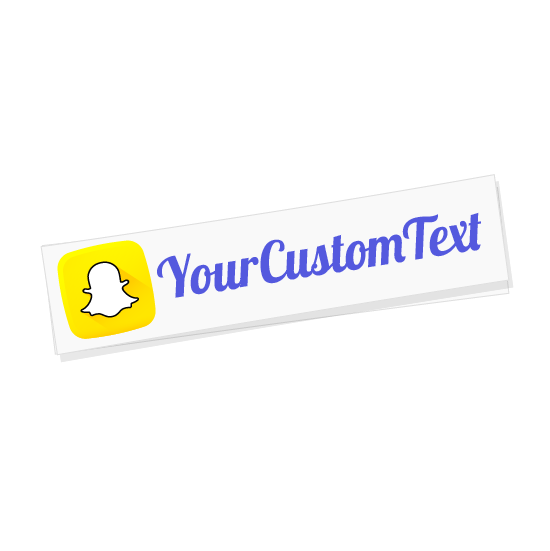Custom Snapchat Name Sticker  Super Fast Shipping  VINYL