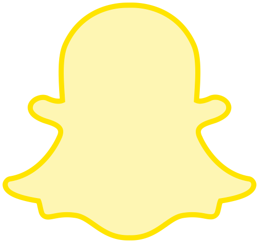 Line snapchat social transparent icon
