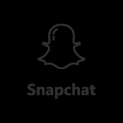 Ghost label logo snapchat icon
