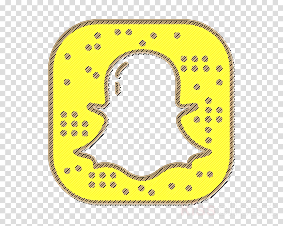 Download High Quality snap chat logo yellow Transparent