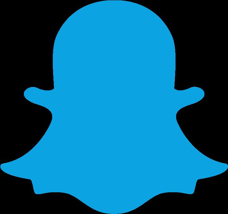 Download Snapchat Blue Logo  Snapchat Icon Png Clipart