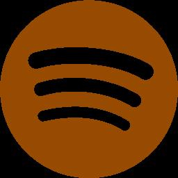 Brown spotify icon  Free brown site logo icons