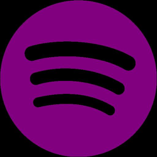 Purple spotify icon  Free purple site logo icons