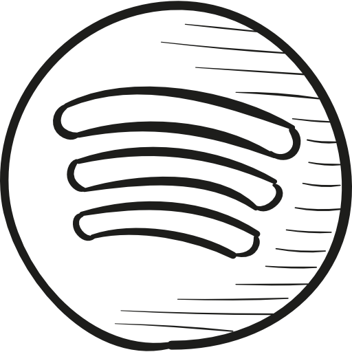 Spotify Draw Logo  Free music icons