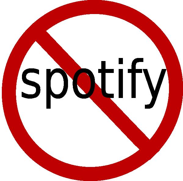 No To Spotify Clip Art at Clkercom  vector clip art