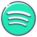 Spotify Logo Icon of Colored Outline style  Available in