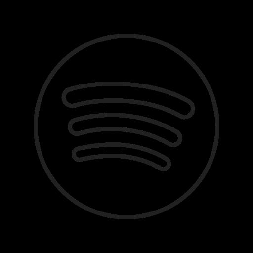Spotify Kostenlos Symbol von Social Media  Logos II