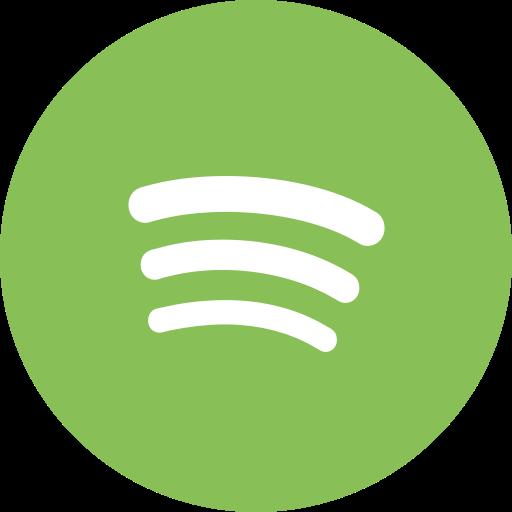 Audio music player social media spotify icon