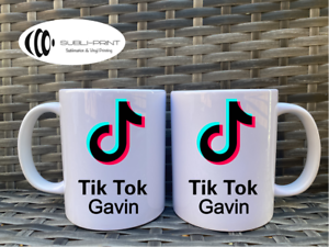 Tik Tok Mug Him Her Personalised Tea Coffee  eBay