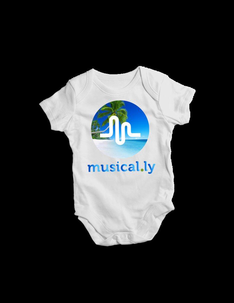 Musically Tik Tok shop baby bodysuits Cool gift