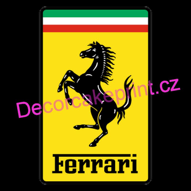 Fondánový list  Logo Ferrari  FL16  Decor cake print