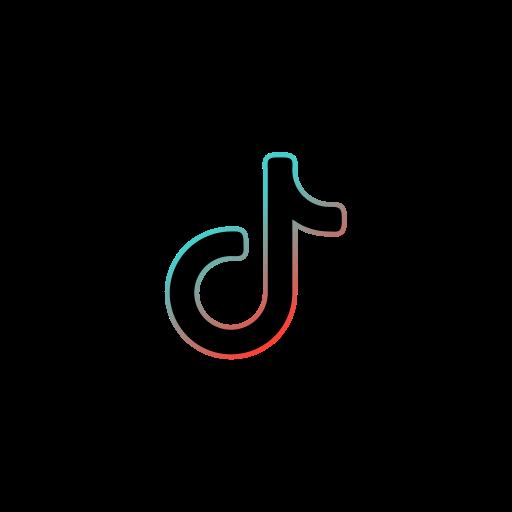 Tiktok logo black Free Icon of Internet 2020
