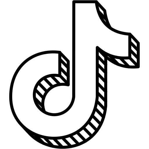 Tiktok logo Free Icon of Social  Hatched Block