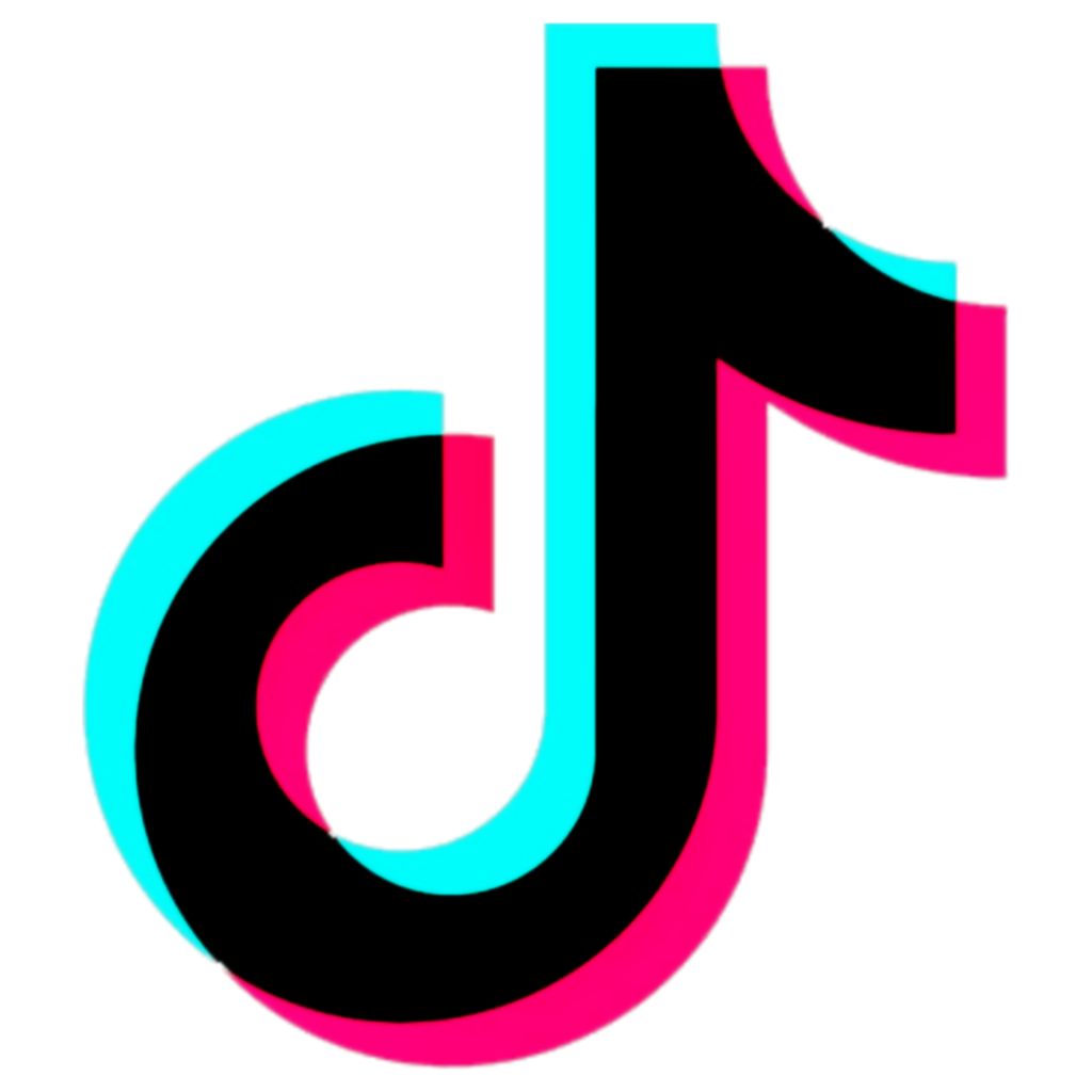 tiktok tiktok tik tok glitch logo logotip