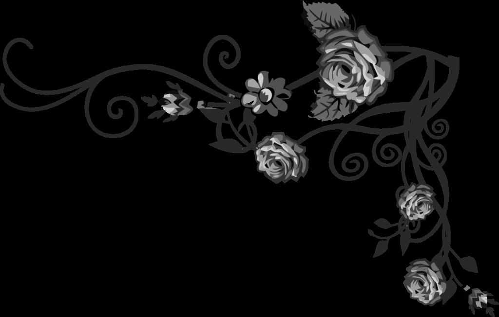 Clipart  Rose Floral Flourish 16