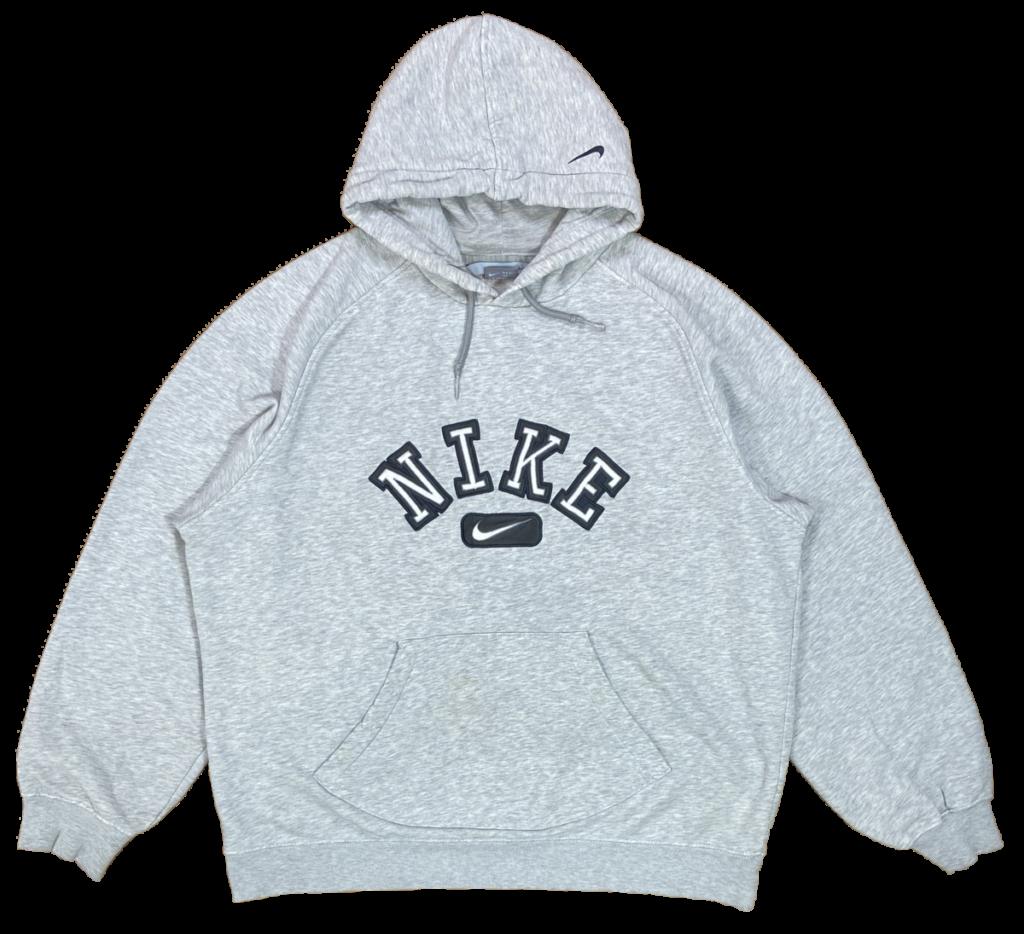 00 Nike Center Logo Vintage Hoodie SweatShirt  3529