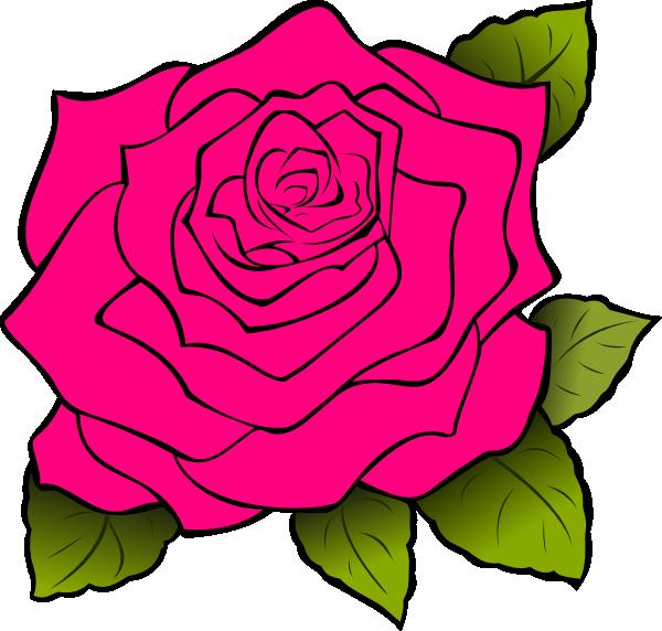 Pink Rose Clip Art at Clkercom  vector clip art online