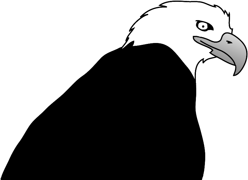 Bald Eagle Head Silhouette at GetDrawings  Free download