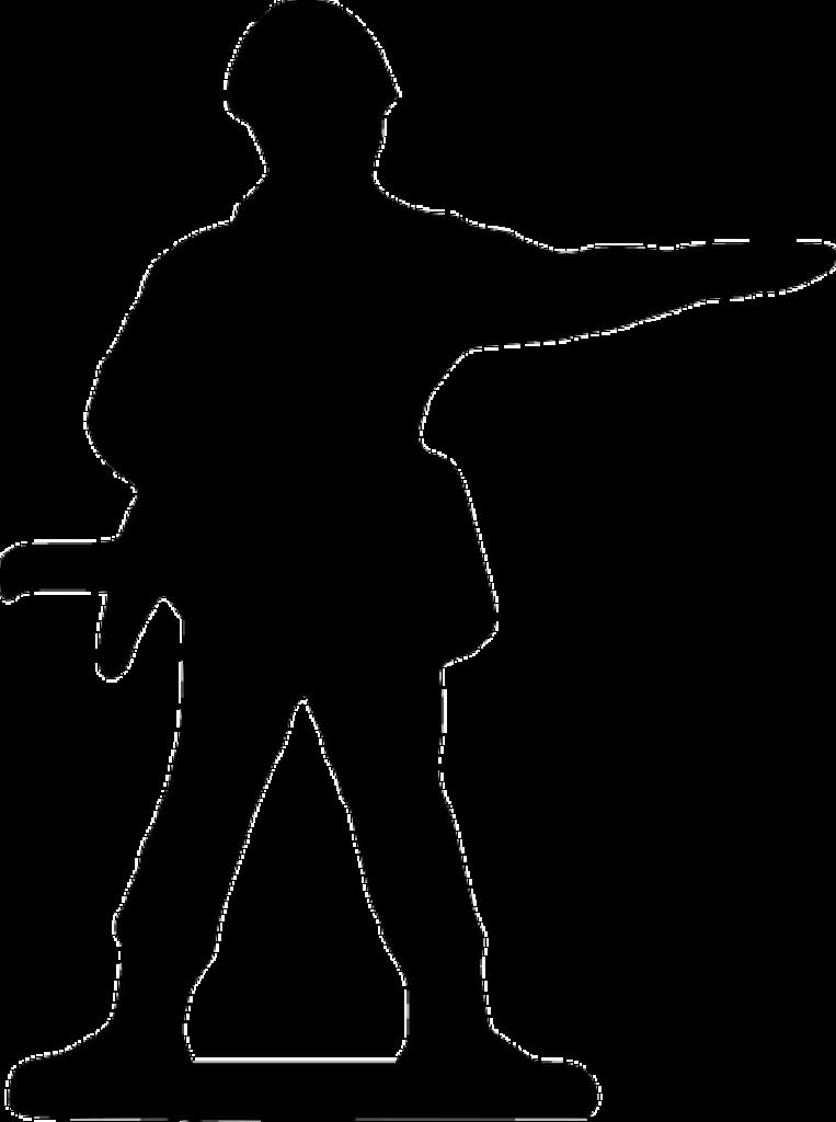Soldier Praying Silhouette at GetDrawings  Free download