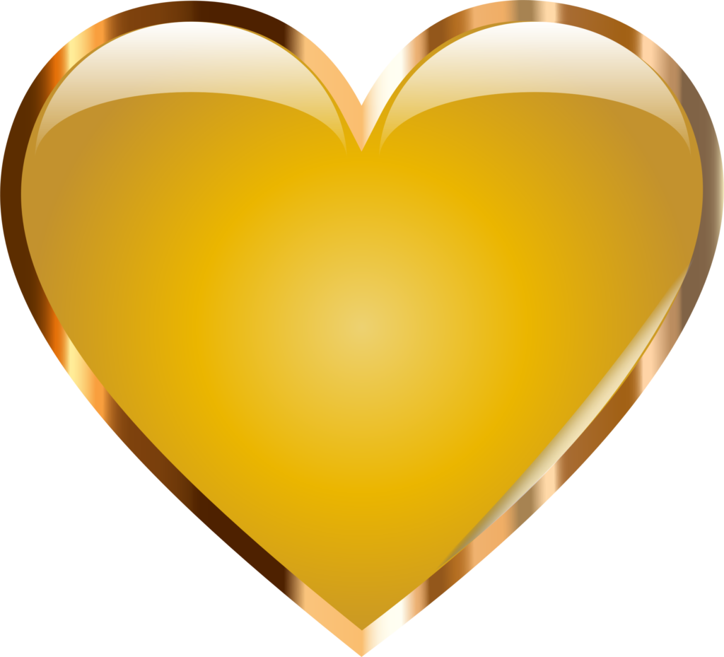 Gold Heart by GDJ A gold heart based on the original