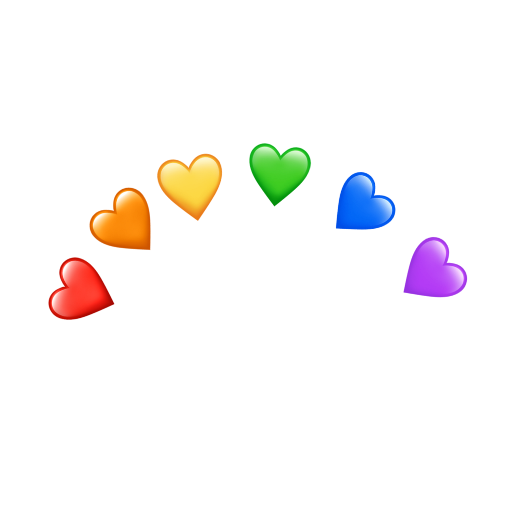 freetoeditrainbow heart tumblr remixit With images
