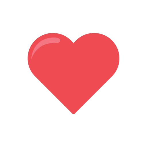 Heart love Like reaction icon