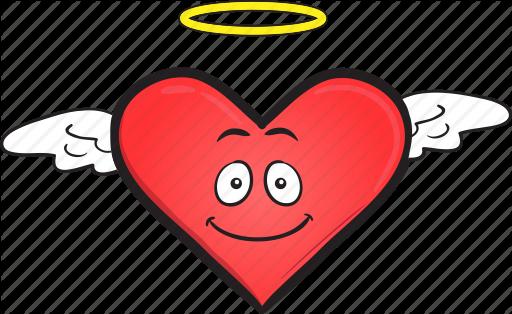 Cartoon day emoji face heart smiley valentines icon