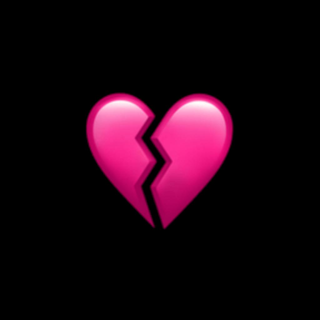pink broken heart emoji overlay edit shattered brokenhe